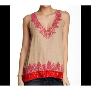 Joie Jules B Silk Beaded Embroidered Tank Top